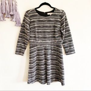 Loft • tweed knit sweatshirt dress size 4 midi